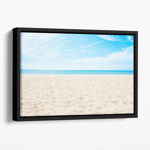 beach background with copy space Floating Framed Canvas