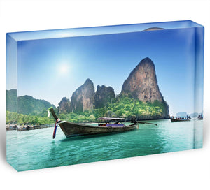 beach in Krabi Thailand Acrylic Block - Canvas Art Rocks - 1