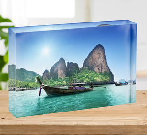beach in Krabi Thailand Acrylic Block - Canvas Art Rocks - 2