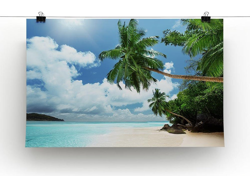 beach on Mahe island Canvas Print or Poster - Canvas Art Rocks - 2
