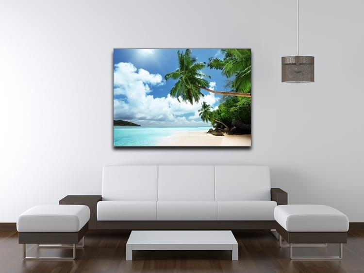 beach on Mahe island Canvas Print or Poster - Canvas Art Rocks - 4