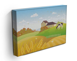 beautiful fall countryside scene with a grazing cow Canvas Print or Poster - Canvas Art Rocks - 3