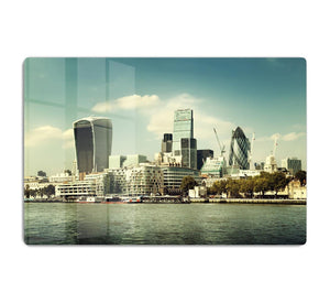 city skyline from the River Thames HD Metal Print