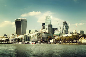 city skyline from the River Thames Wall Mural Wallpaper - Canvas Art Rocks - 1