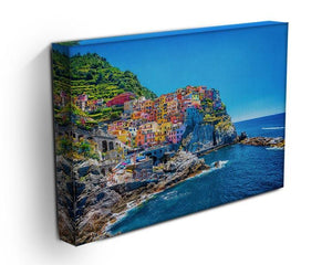 colorful cityscape on the mountains Canvas Print or Poster - Canvas Art Rocks - 3
