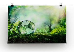 crystal globe on moss in a forest Canvas Print or Poster - Canvas Art Rocks - 2