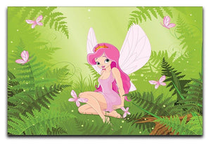 cute fairy into magic forest Canvas Print or Poster  - Canvas Art Rocks - 1