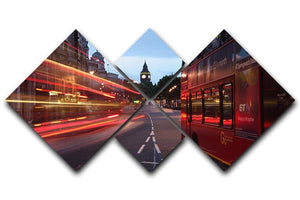 dawn breaking over the city of westminster 4 Square Multi Panel Canvas  - Canvas Art Rocks - 1
