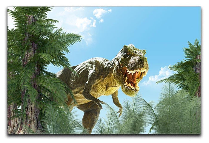 dinosaur in the jungle background Canvas Print or Poster