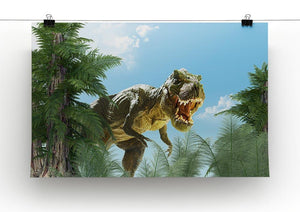 dinosaur in the jungle background Canvas Print or Poster - Canvas Art Rocks - 2