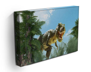 dinosaur in the jungle background Canvas Print or Poster - Canvas Art Rocks - 3