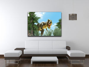 dinosaur in the jungle background Canvas Print or Poster - Canvas Art Rocks - 4