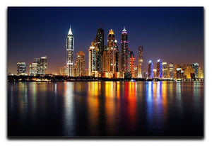 dusk Palm Jumeirah skyline view Canvas Print or Poster  - Canvas Art Rocks - 1