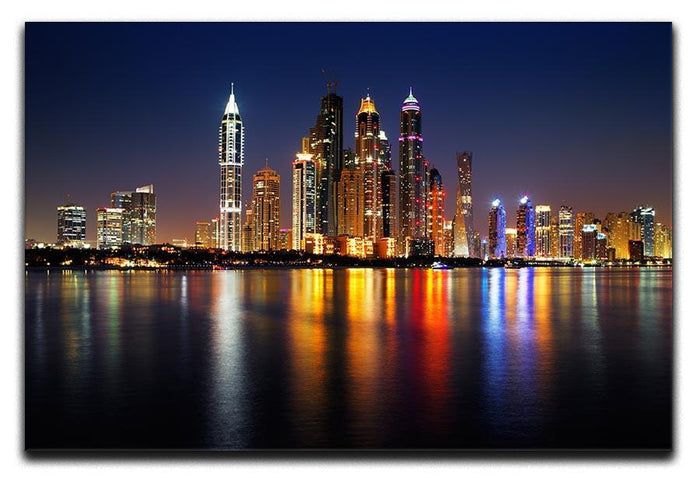 dusk Palm Jumeirah skyline view Canvas Print or Poster