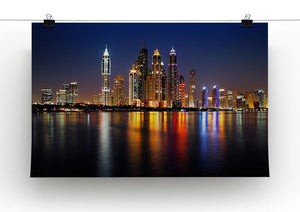 dusk Palm Jumeirah skyline view Canvas Print or Poster - Canvas Art Rocks - 2