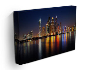 dusk Palm Jumeirah skyline view Canvas Print or Poster - Canvas Art Rocks - 3