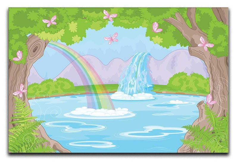 fairy landscape with Fabulous Waterfall Canvas Print or Poster  - Canvas Art Rocks - 1