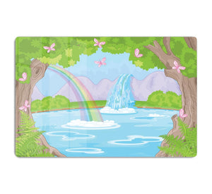 fairy landscape with Fabulous Waterfall HD Metal Print