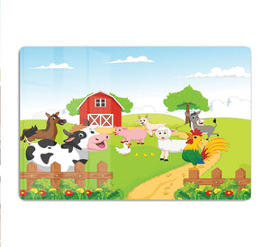 farm animals with background HD Metal Print
