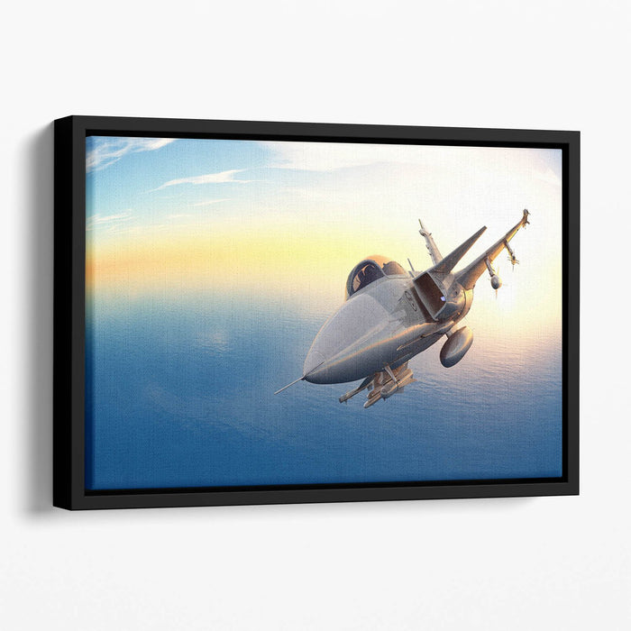 fighter 2 Floating Framed Canvas