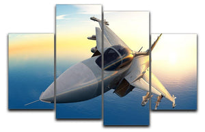 fighter 4 Split Panel Canvas  - Canvas Art Rocks - 1
