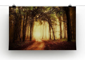 golden forest at autumn Canvas Print or Poster - Canvas Art Rocks - 2