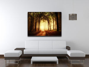golden forest at autumn Canvas Print or Poster - Canvas Art Rocks - 4