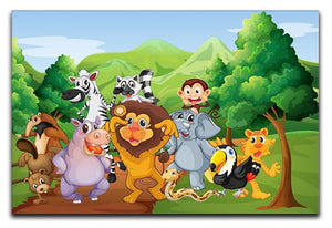 group of animals at the jungle Canvas Print or Poster  - Canvas Art Rocks - 1