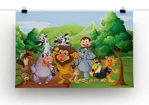 group of animals at the jungle Canvas Print or Poster - Canvas Art Rocks - 2
