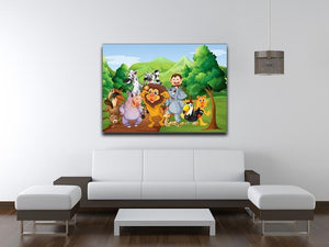 group of animals at the jungle Canvas Print or Poster - Canvas Art Rocks - 4