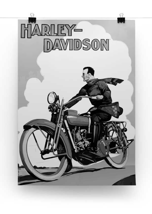 Vintage Harley Davidson Print - Canvas Art Rocks - 3