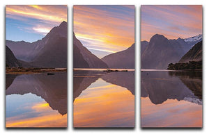 high mountain glacier at milford sound 3 Split Panel Canvas Print - Canvas Art Rocks - 1