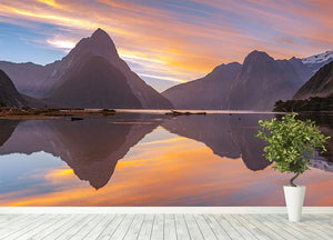 high mountain glacier at milford sound Wall Mural Wallpaper - Canvas Art Rocks - 4