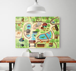 illustration of map of a zoo park HD Metal Print