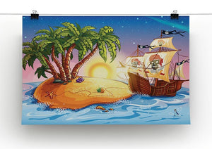 island with a pirate ship Canvas Print or Poster - Canvas Art Rocks - 2