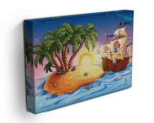 island with a pirate ship Canvas Print or Poster - Canvas Art Rocks - 3