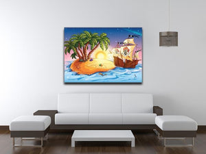 island with a pirate ship Canvas Print or Poster - Canvas Art Rocks - 4