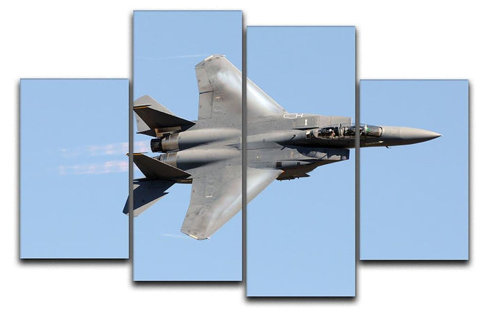 jet at high speed 4 Split Panel Canvas