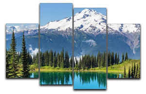 lake and Glacier Peak 4 Split Panel Canvas  - Canvas Art Rocks - 1