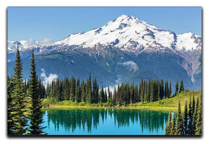 lake and Glacier Peak Canvas Print or Poster  - Canvas Art Rocks - 1