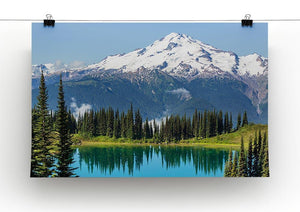 lake and Glacier Peak Canvas Print or Poster - Canvas Art Rocks - 2