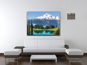 lake and Glacier Peak Canvas Print or Poster - Canvas Art Rocks - 4