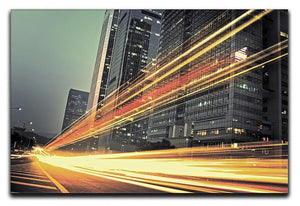 light trails modern building Canvas Print or Poster  - Canvas Art Rocks - 1