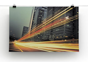 light trails modern building Canvas Print or Poster - Canvas Art Rocks - 2