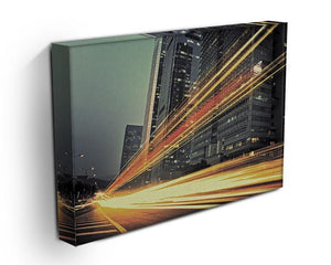 light trails modern building Canvas Print or Poster - Canvas Art Rocks - 3