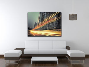 light trails modern building Canvas Print or Poster - Canvas Art Rocks - 4