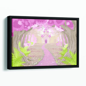 magic fairy tale princess castle Floating Framed Canvas
