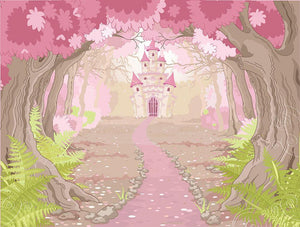 magic fairy tale princess castle Wall Mural Wallpaper - Canvas Art Rocks - 1