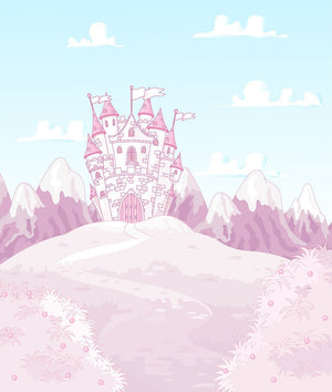 magic princess castle Wall Mural Wallpaper - Canvas Art Rocks - 1