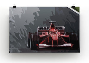 Michael Schumacher Formula 1 Print - Canvas Art Rocks - 2